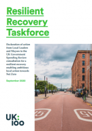 Front cover of the Resilient Recovery Taskforce brochure