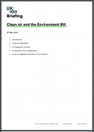 UK100 Briefing - Clean air and the Environment Bill